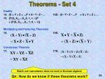 theorems set 4