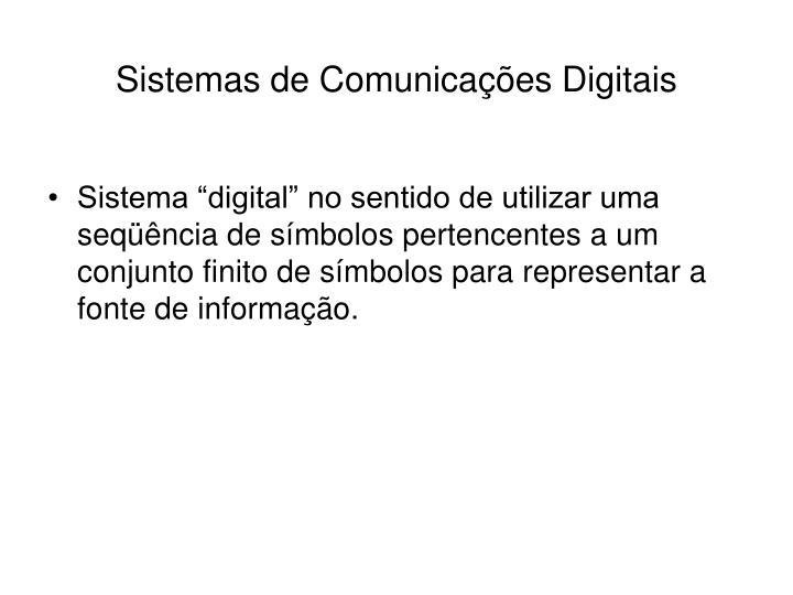 Sistemas de comunica es digitais