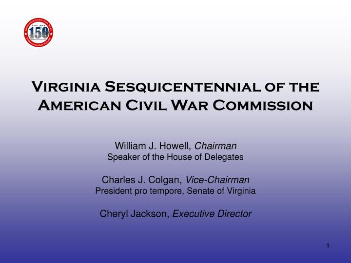 virginia sesquicentennial of the american civil war commission n.