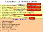 laboratories of josephson qubits