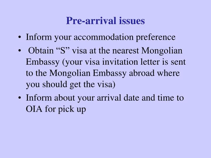 Ppt national university of mongolia powerpoint presentation id pre arrival issues spiritdancerdesigns Images