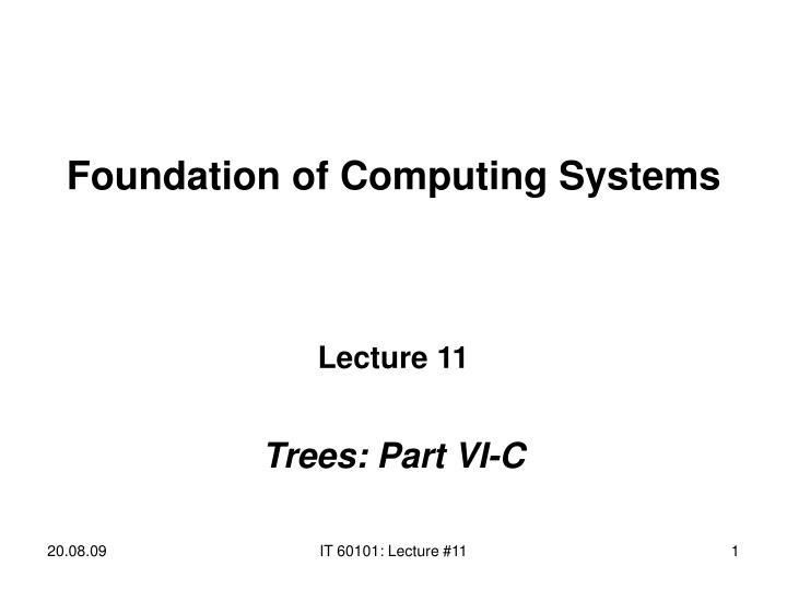 foundation of computing systems n.