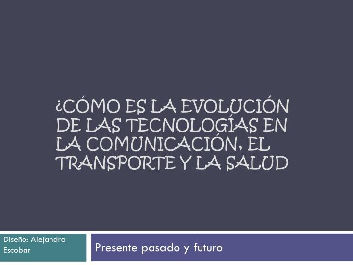 C mo es la evoluci n de las tecnolog as en la comunicaci n el transporte y la salud