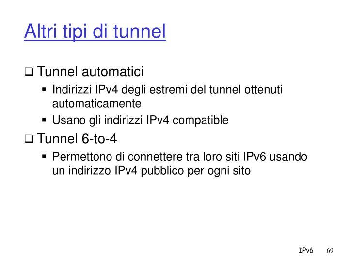 Altri tipi di tunnel