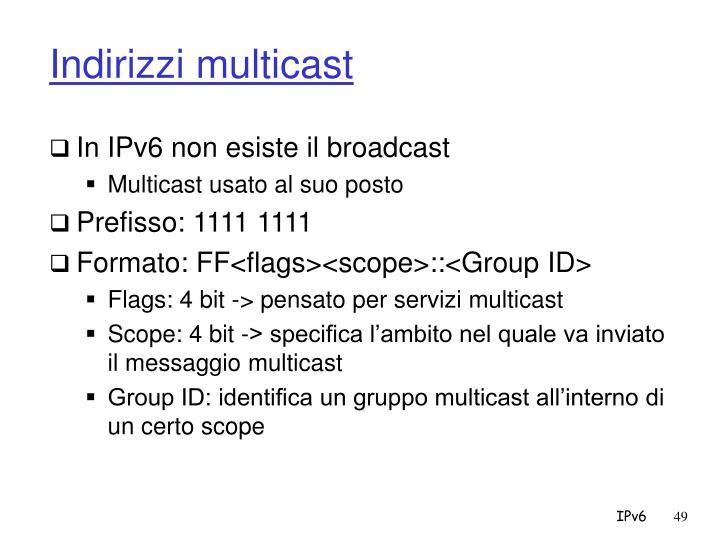 Indirizzi multicast