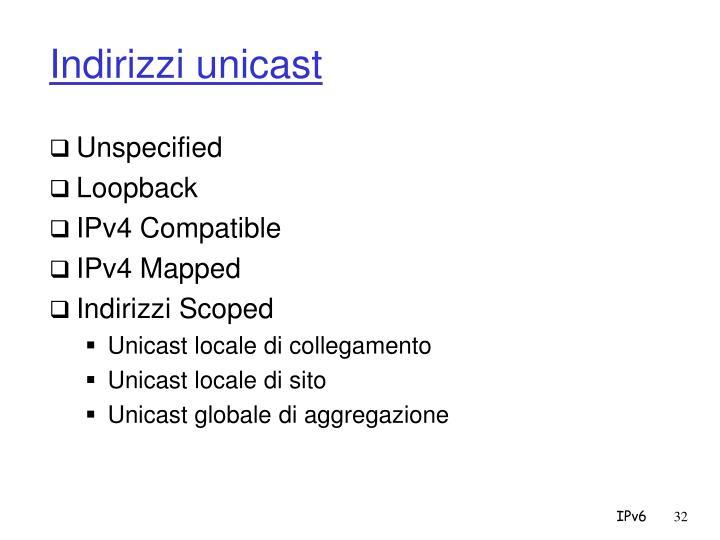 Indirizzi unicast
