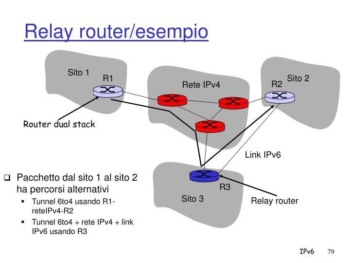 Relay router/esempio