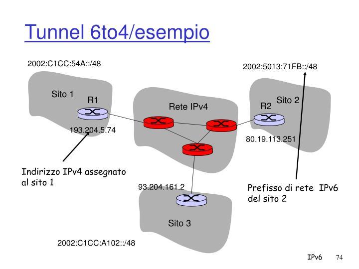 Tunnel 6to4/esempio