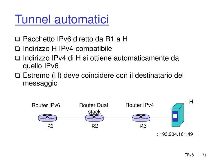 Tunnel automatici