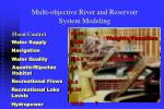 multi objective river and reservoir system modeling