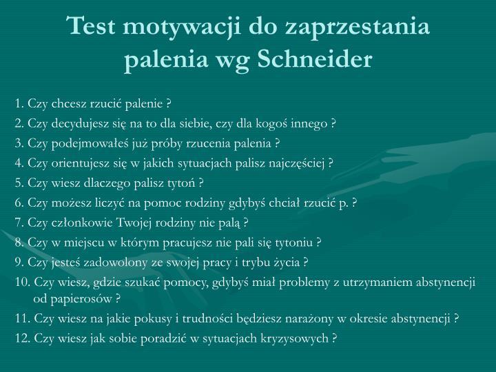 Test motywacji do zaprzestania