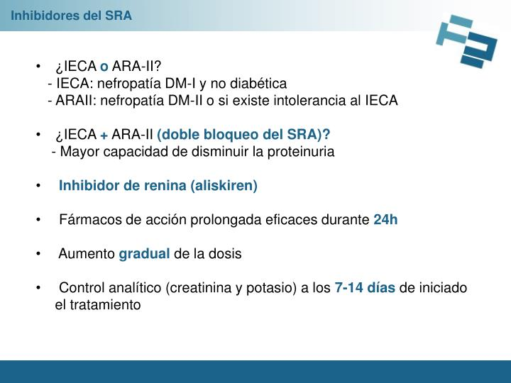 Inhibidores del SRA