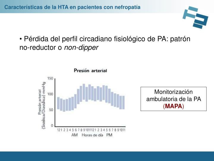 Características de la HTA en pacientes con nefropatía