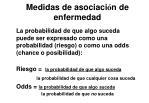 medidas de asociaci n de enfermedad