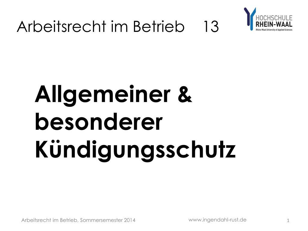 Ppt Arbeitsrecht Im Betrieb 13 Powerpoint Presentation Id6338489