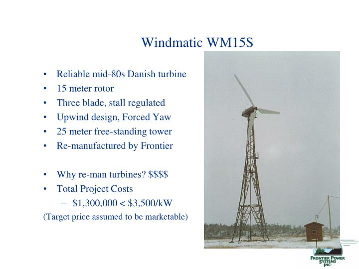 Windmatic WM15S