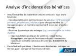 analyse d incidence des b n fices
