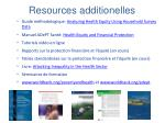 resources additionelles