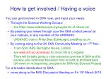 how to get involved having a voice