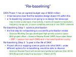 re baselining