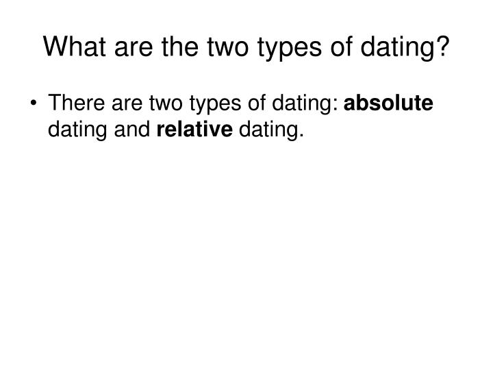 types of relative and absolute dating