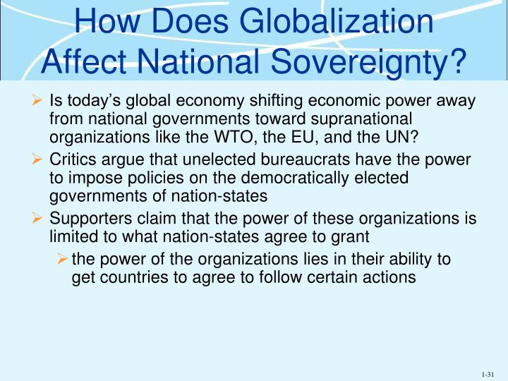How Does Globalization Affect National Sovereignty?