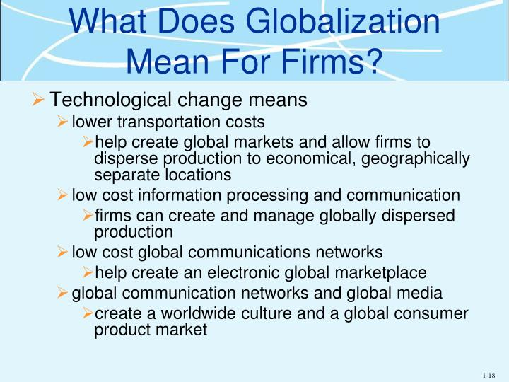 What Does Globalization