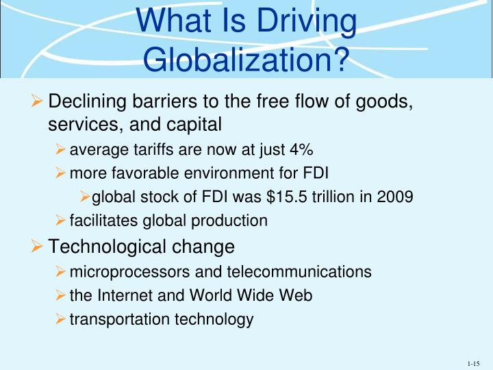 What Is Driving Globalization?