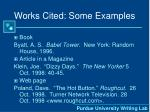 works cited some examples
