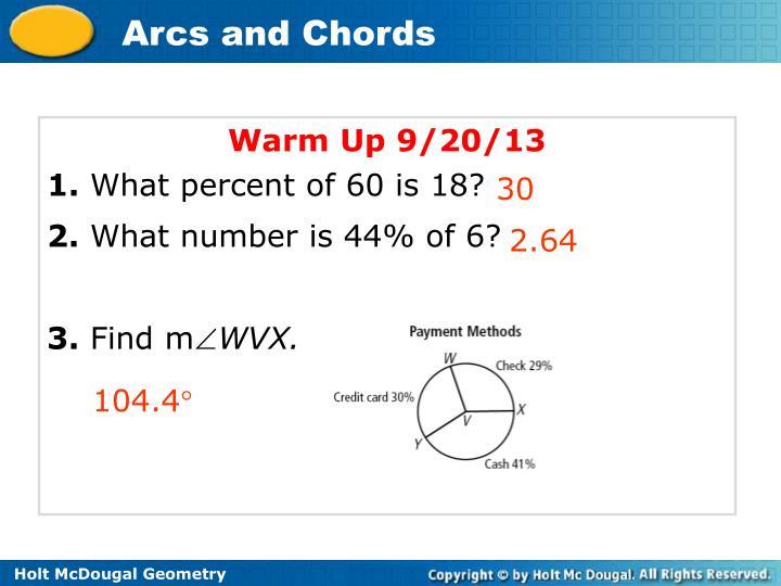 Warm Up 9/20/13