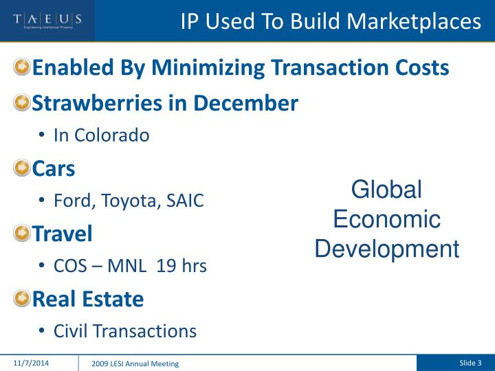 Ip used to build marketplaces