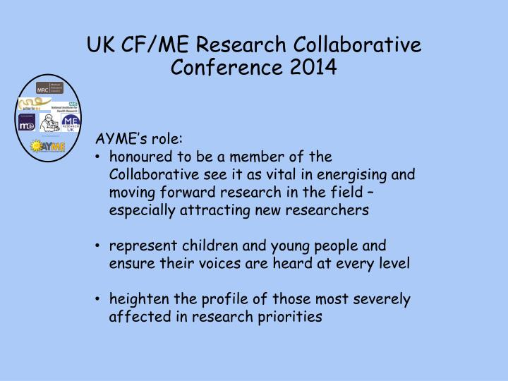 Uk cf me research collaborative conference 2014