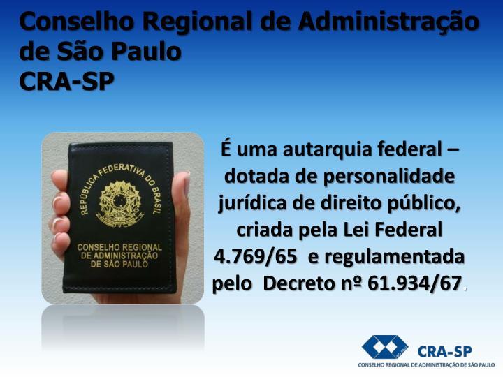 Conselho regional de administra o de s o paulo cra sp