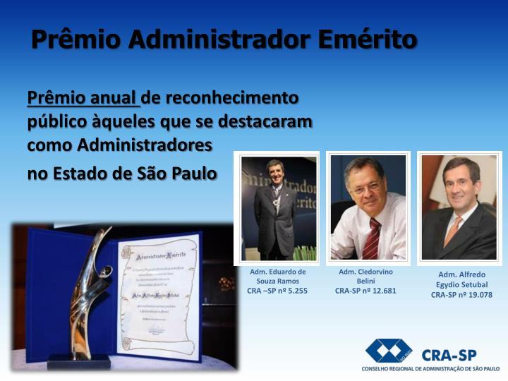 Prêmio Administrador Emérito