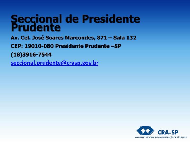 Seccional de Presidente Prudente