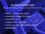 supercomputer teraflop trillion calculations second