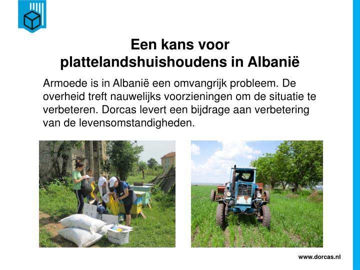 Een kans voor plattelandshuishoudens in Albanië