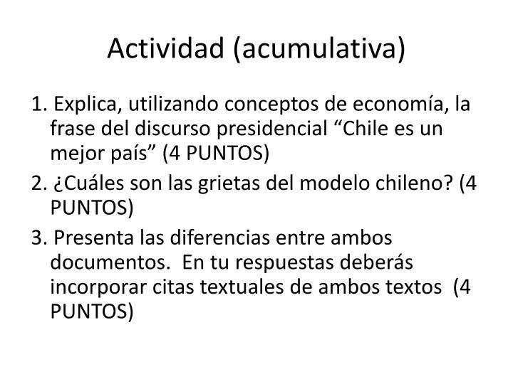 Actividad (acumulativa)