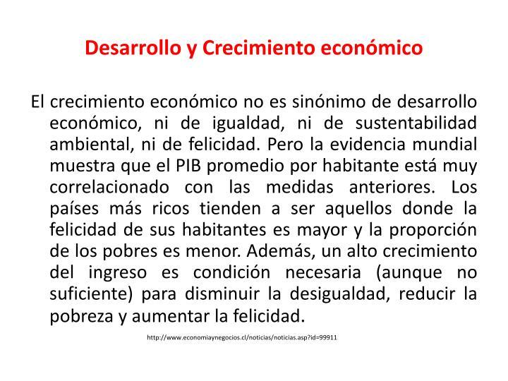 Desarrollo y Crecimiento económico