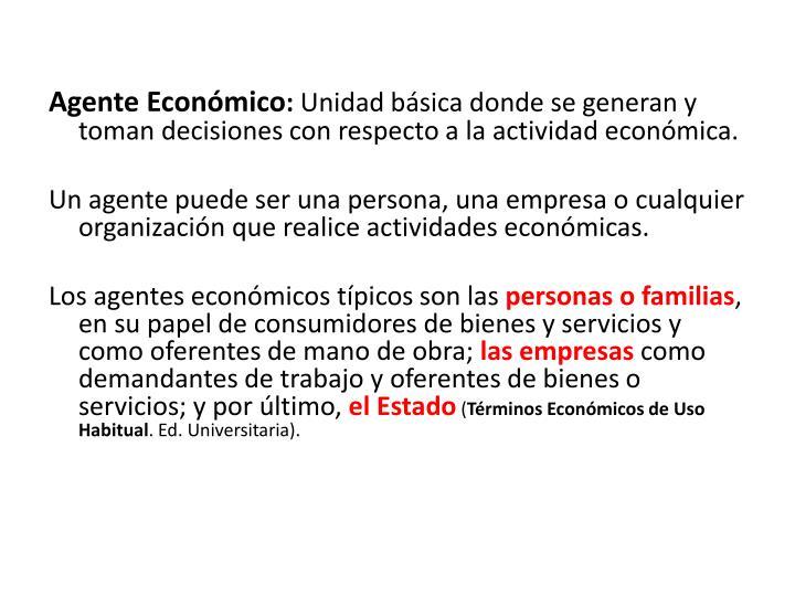 Agente Económico