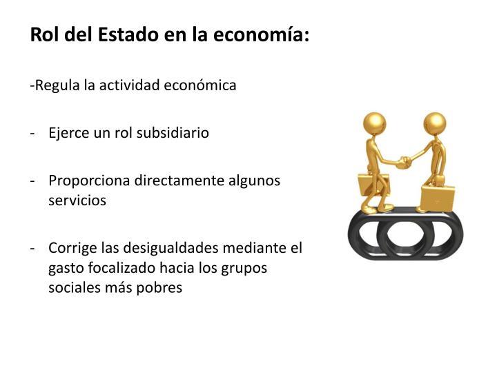 Rol del Estado en la economía: