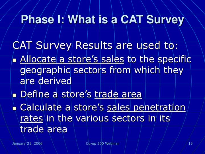Phase I: What is a CAT Survey