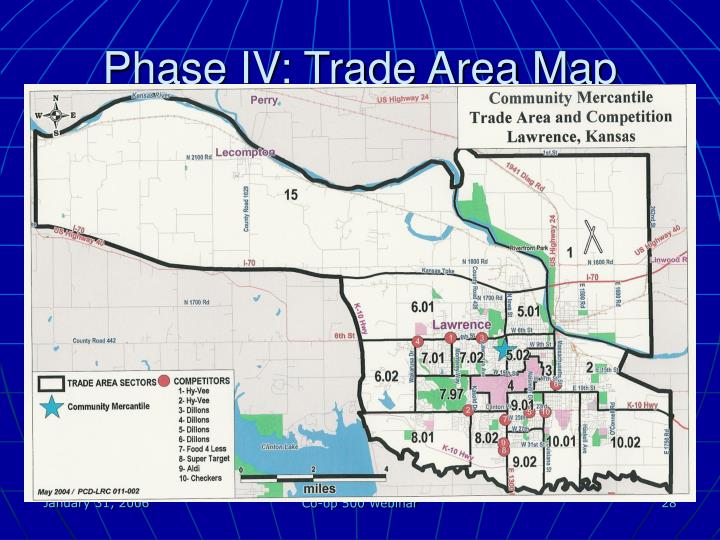 Phase IV: Trade Area Map