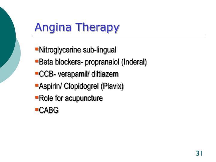 Angina Therapy