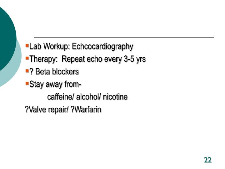 Lab Workup: Echcocardiography
