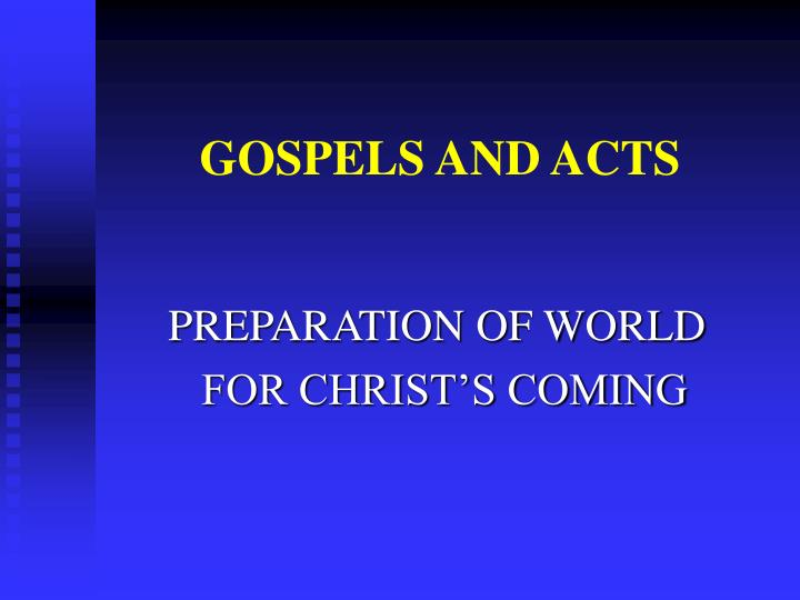 gospels and acts n.