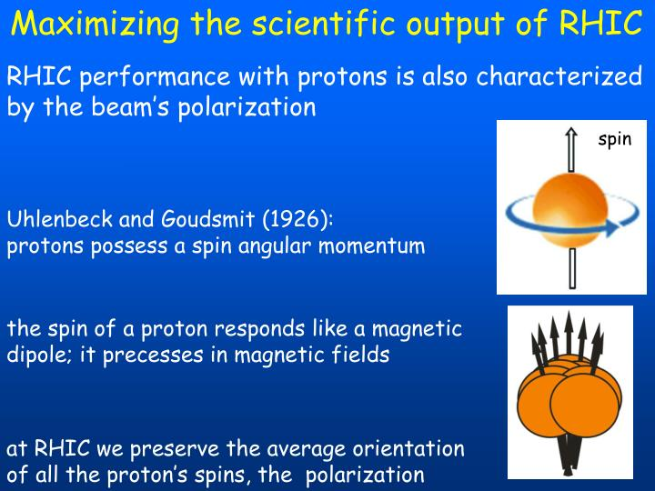 Maximizing the scientific output of RHIC