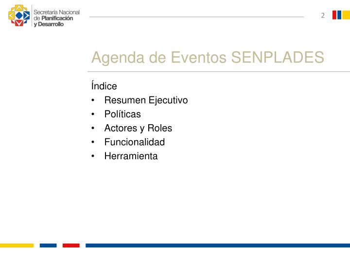Agenda de eventos senplades1