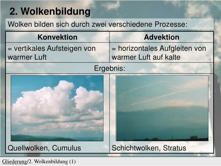 PPT - Luftfeuchtigkeit und Wolkenbildung PowerPoint Presentation ...
