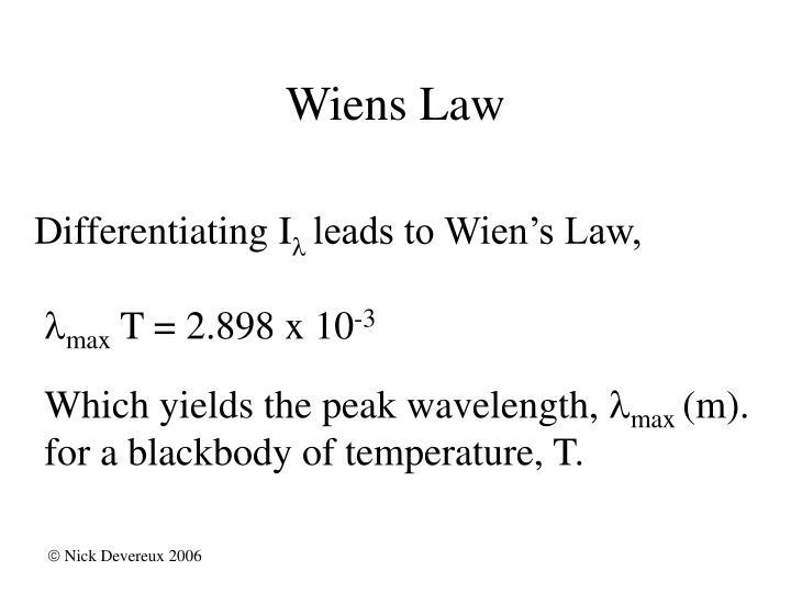 Wiens Law